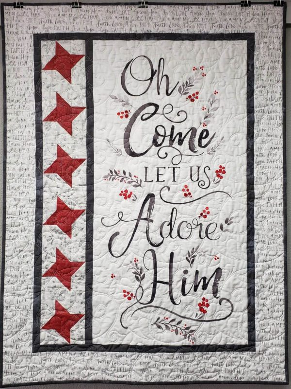"""O Come Let Us Adore Him"" Quilting Kit Fully Assembled"