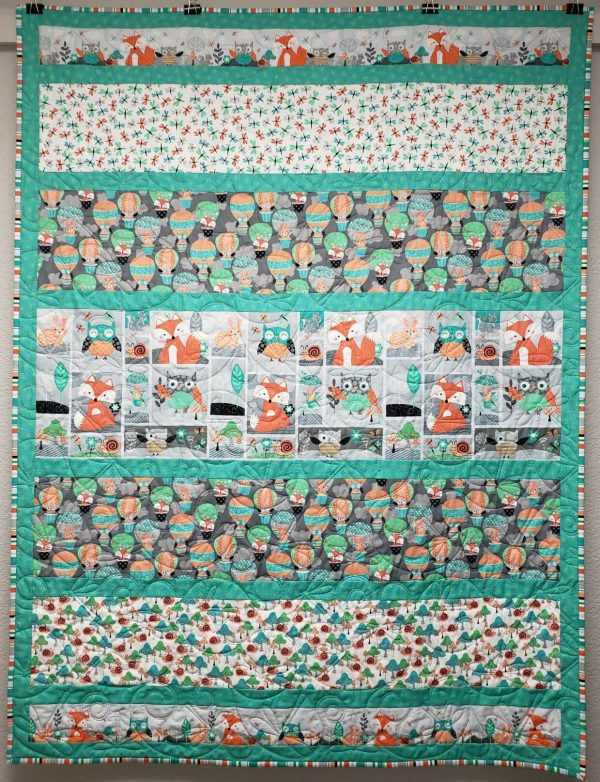Owl & Woodland Quilting Kit Fully Assembled